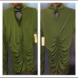 Bisou Bisou polyester blouse by Michele Bohbot